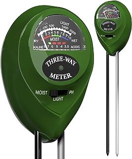 Soil pH Meter 3-in-1 Soil Tester Moisture Light pH Meter Tool for Garden, Farm, Outdoor,..