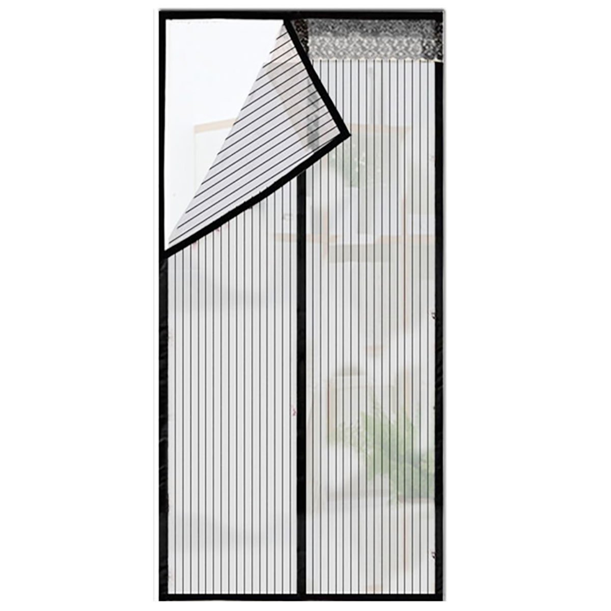 Q&F Puerta De Pantalla Magnética,Cortinas para Puertas De Malla,Puertas Correderas,Garaje,Barco De Pesca,Super Silencioso,Manos Libres-Deje Aire En-Negro 240x270cm(94x106inch): Amazon.es: Hogar