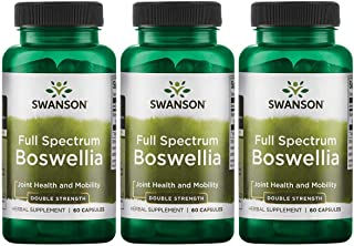 Swanson Boswellia Joint Mobility Respiratory Health Support Supplement Full Spectrum Double Strength 800 mg 60 Capsules (3...