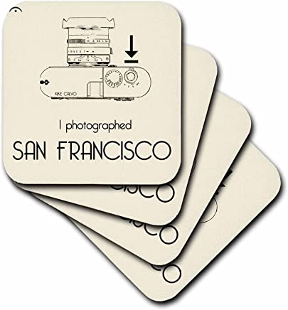 3dRose cst_15144_1 I Photograph, San Francisco-Soft Coasters, Set of 4
