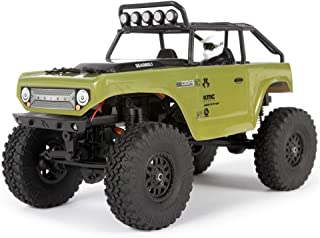 "Axial SCX24 1/24 Deadbolt RC Crawler 4WD Truck 8"" RTR with LED Lights, 3-Ch 2.4GHz Transmitter, Battery, and USB Charger: (Green) AXI90081T2"