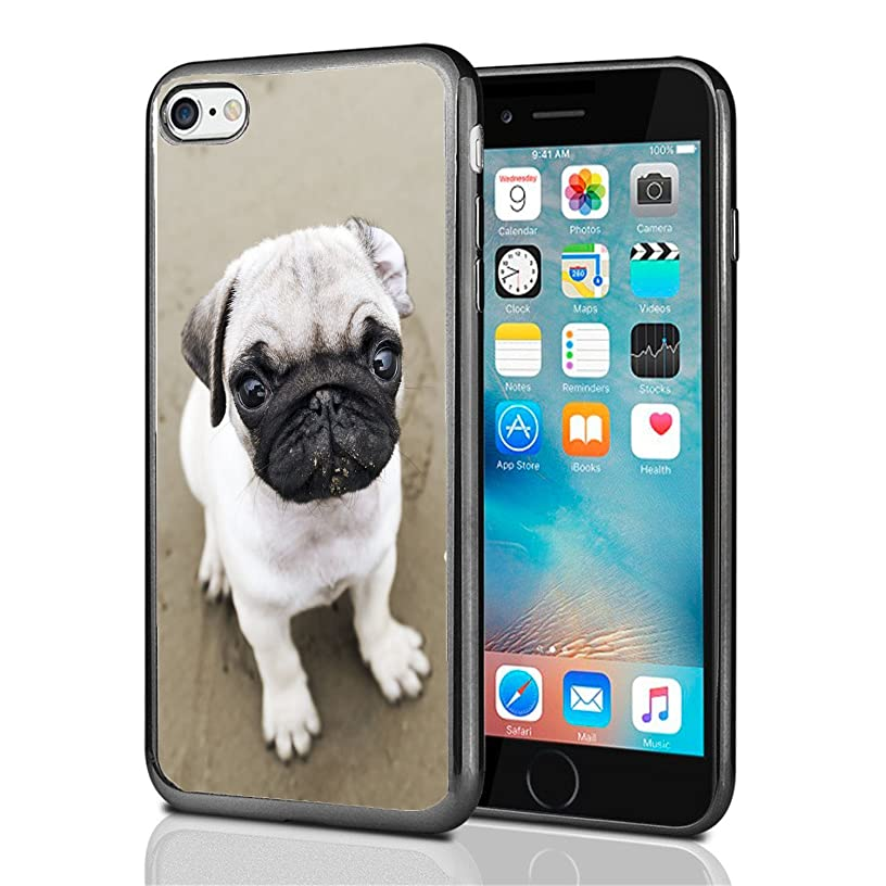 Pug Close up for iPhone 7 (2016) & iPhone 8 (2017) Case Cover by Atomic Market