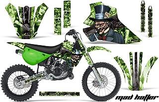 Kawasaki KX80 KX100 1995-1997 MX Dirt Bike Graphic Kit Sticker Decals KX 80 100 HATTER GREEN