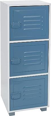 House & Homestyle Armoire de Rangement 3 Door Bleu