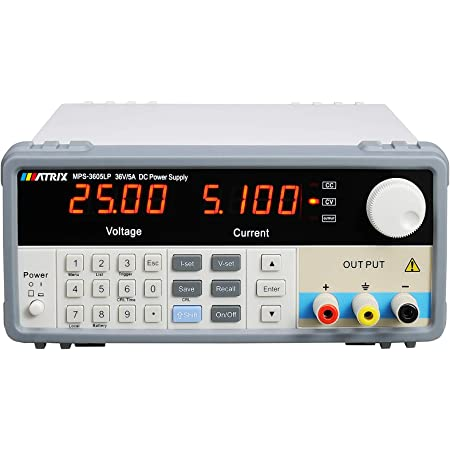Programmable DC Linear Variable Power Supply Single-Channel Bench DC Power Supply 4 Digits Display MPS-3605LP 36V 5A 10mV 1mA Resolution with RS-232 US Plug
