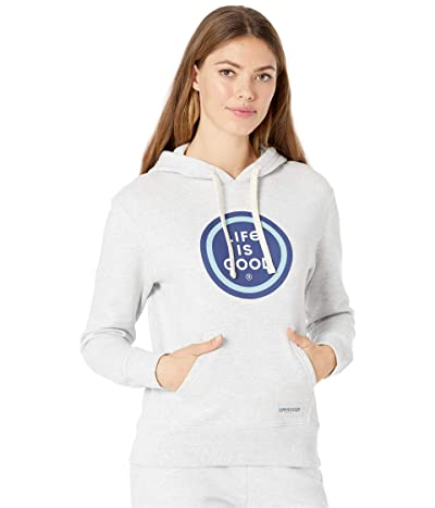 Life is Good Simply True Hoodie (Light Heather Grey) Women