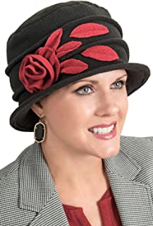 Fleece Angelina Cloche Hat - Fall & Winter Cloche Hat for Women - Chemo Cancer