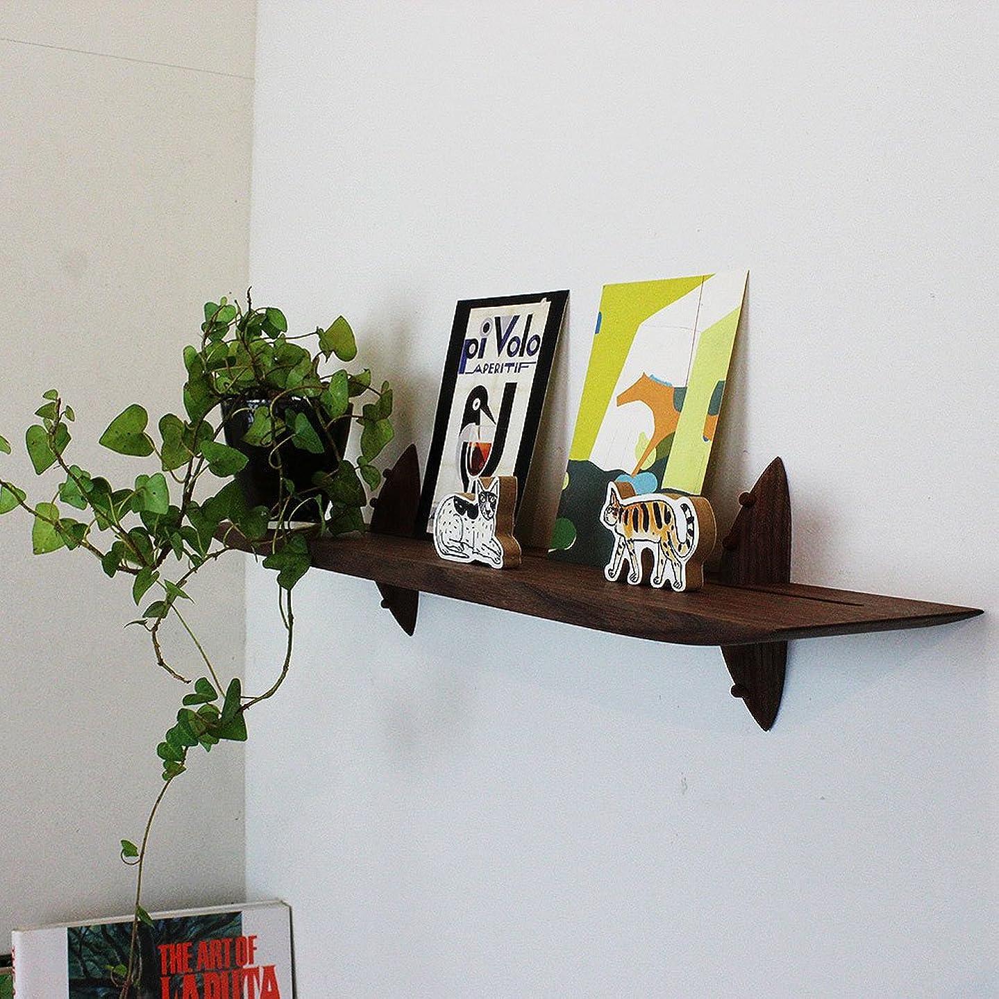 はしご主権者祖母イオリスペース 飾棚 壁掛け 56ウォールナット 木製 おしゃれ ウォールシェルフ