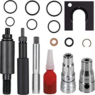 E-cowlboy for Ford 6.0L Powerstroke Cylinder Head Repair Kit & Fuel Injector Sleeve Remover&Installer Complete Package (16 PCS/One-Injector)