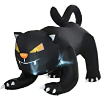 Deals on HomCom 6-ft Giant Creeping Black Cat Outdoor Inflatable