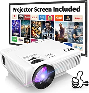 "DR. J Professional HI-04 1080P Supported 3500lumens 4Inch Mini Projector with 170"" Display - 40,000 Hours LED Full HD Video Projector, Compatible with HDMI,USB,SD (Latest Upgrade)"
