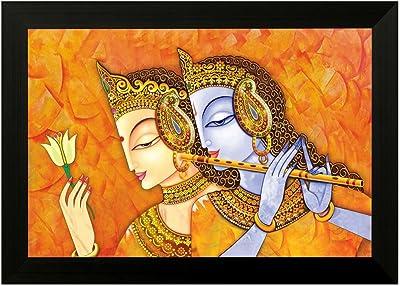 SAF Radha Krishna 6357 Modern Art UV Textured Framed Art Print (35 x 50 x 2 cms) SANFMA6357