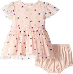 Embroidered Stars Tulle Dress (Infant)