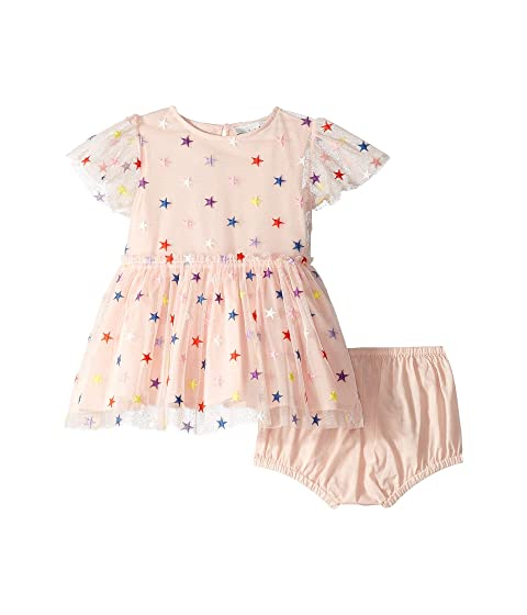 Stella McCartney Kids Embroidered Stars Tulle Dress (Infant)