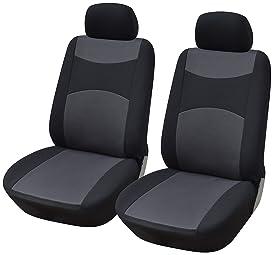 2 x Fronts Heavy Duty Black Waterproof Car Seat Covers PEUGEOT 208 2012 ON