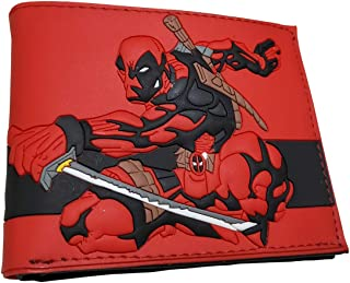Junxi Superhero character PVC bifold wallet (Style H)