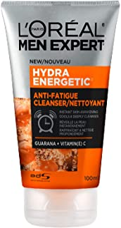 L'Oreal Paris Men Expert Face Wash for Men With Vitamin C + Guarana| Hydra Energetic, 100 Ml, 100 Milliliters