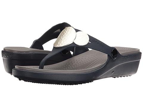 d1efa97d495a Crocs Sanrah Embellished Wedge Flip at 6pm