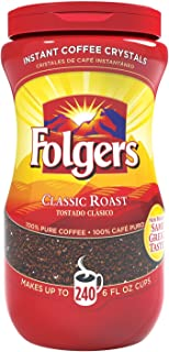 Folgers - 2 Pack - Instant Coffee Crystals Classic Roast 16Oz Jar