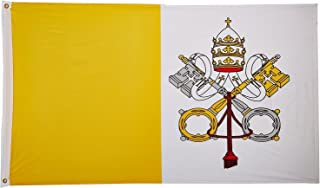 2x3 Vatican City Flag 2'x3' Nylon Polyester Pope House Banner Brass Grommets PREMIUM Vivid Color and UV Fade BEST Garden Outdor Resistant Canvas Header and polyester material FLAG
