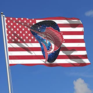 A13UDQ Outdoor Flags Sailfish American Flag 3X5 Ft Flag for Outdoor Indoor Home Decor Sports Fan Football Basketball Baseball Hockey