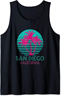 San Diego CA Palm Trees California Souvenir Cali So Cal Tank Top