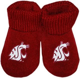 Washington State University Cougars Newborn Baby Bootie Sock
