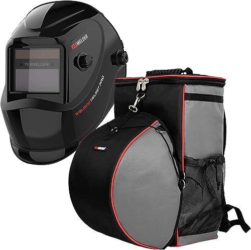 2021 YESWELDER online high quality True Color Solar Powered Auto Darkening Welding Helmet&Welding Backpack Extreme Gear Pack with Helmetcatch sale