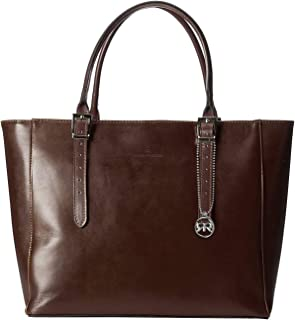 Roberta Rossi Borsa in pelle con doppi manici da donna classica elegante moda Tote bag Vera Pelle Vacchetta Made in Italy ...
