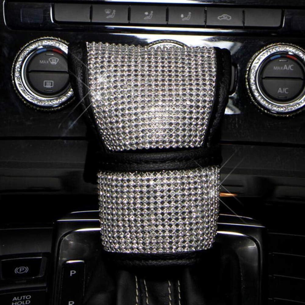 Fashowlife 2Pcs Crystal Diamond Seat Belt Shoulder Pads Bling Bling Car Seatbelt Covers Auto Car Decoration Accessories for Women Men