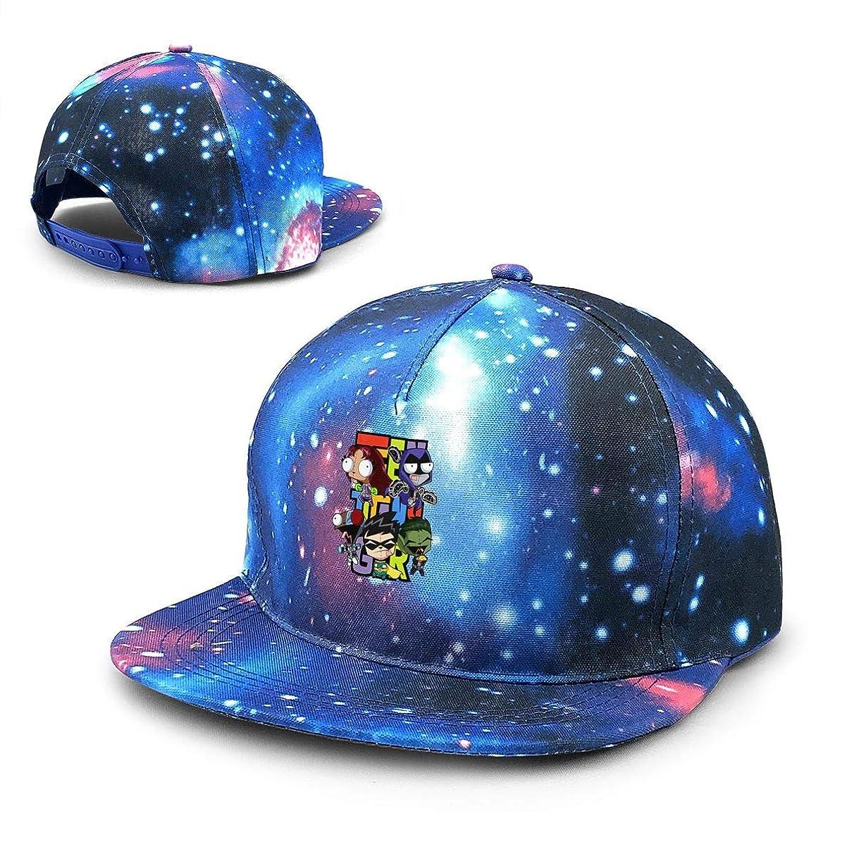 SCARLETT DODD Teen Titans Gir Purple Galaxy Snapback Hat Unisex Trucker Hat Hip Hop Plaid Flat Adjustable Baseball Hat
