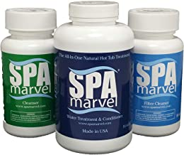Spa Marvel Water Treatment & Conditioner Cleanser, Filter Cleanser (Bundled with Pearsons Scumball Absorberl)