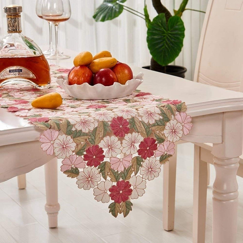 DEED Manteles-Pequeo Mantel Floral del Restaurante de la Tela Cuadrado rojoondo Paños de Tabla para el Pao de Tabla del Uso del hogar,A, 38x205cm (15x81 Pulgadas)