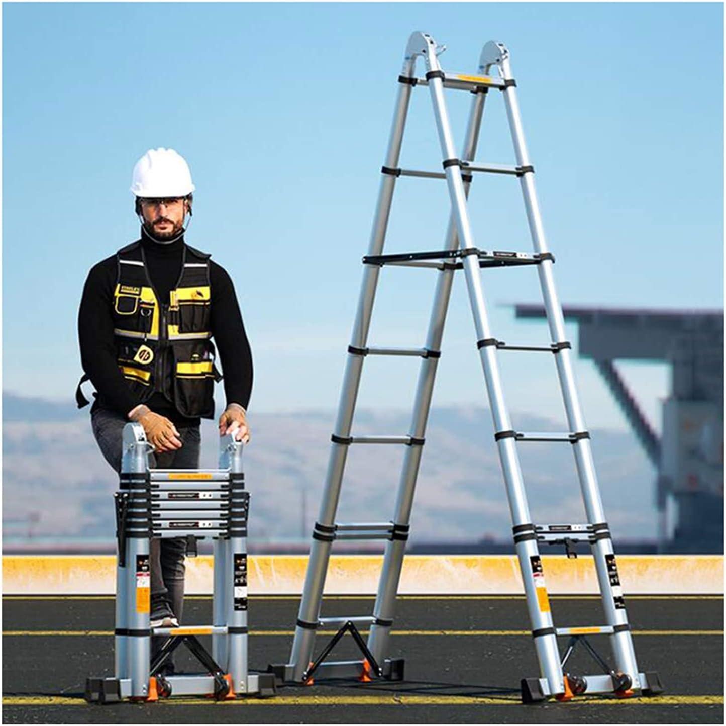 supreme HBSC Aluminum Telescopic Ladder Multi 70% OFF Outlet Folding Extension Purpose