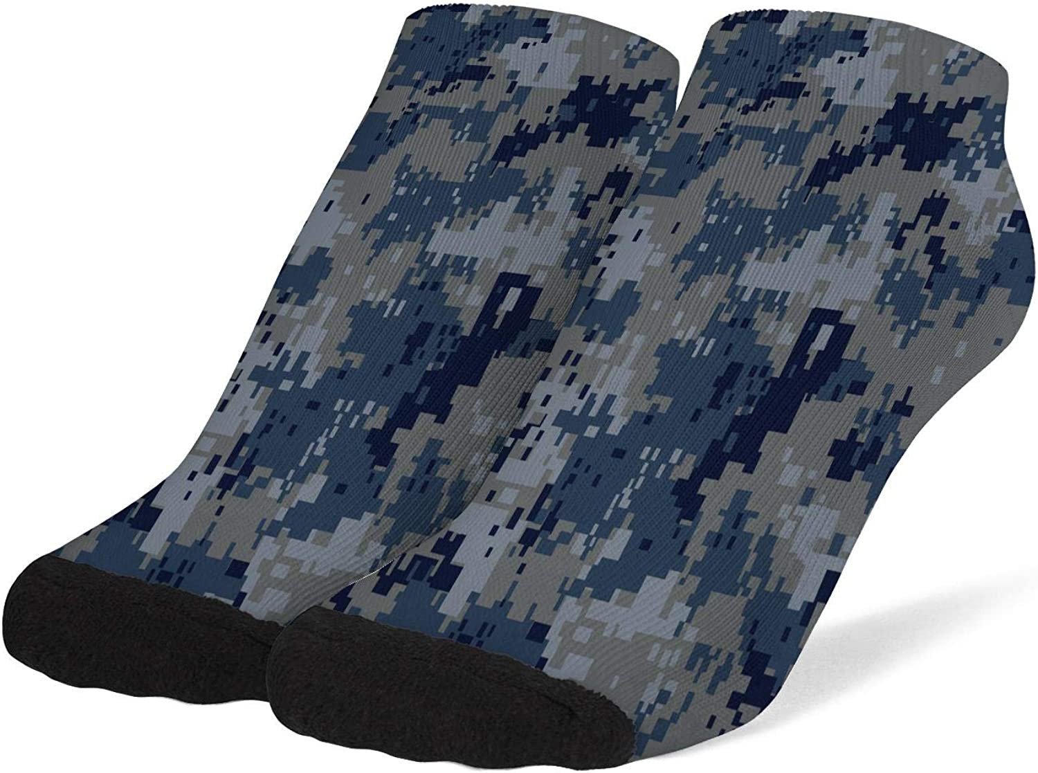 Womens Camouflage Camo Army Socks Cotton No Show Low Cut Socks Ankle Sock