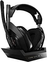 ASTRO Gaming A50 Wireless Headset + Base Station Gen 4 - Compatible with Xbox Series X S, Xbox One, PC, Mac - Black/Gold