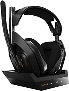 ASTRO Gaming A50 Wireless + Base Station for Xbox One and Series X & PC - Black/Gold - Headset + Base Edition