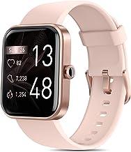 """ساعت های هوشمند برای زنان ، AOKESI 2021 نسخه 1.69 """"ساعت هوشمند برای تلفن های Android Android با Alexa Built-in ، 5ATM ضد آب فعالیت ردیاب با ضربان قلب 24/7 ، اکسیژن خون ، 100 شماره گیری ، ساعت صورتی"""