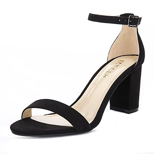Black Heels with Ankle Strap: Amazon.com