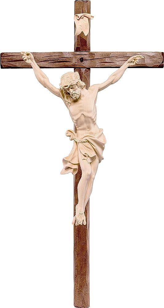 Ferrari & arrighetti crocifisso cristo delle alpi,statua in legno dipinta a mano. D2323W_160