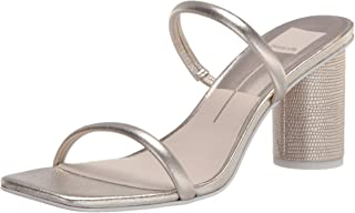 Dolce Vita Women's Chic City Sandal Heeled, Light gold, 8.5 M US