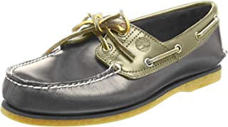 Timberland Classic Boat 2 Eyesteeple Grey W/Rainy Day Chaos, Chaussures Bateau Homme