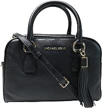 Michael Kors Bedford Medium Tassel Leather Satchel Black