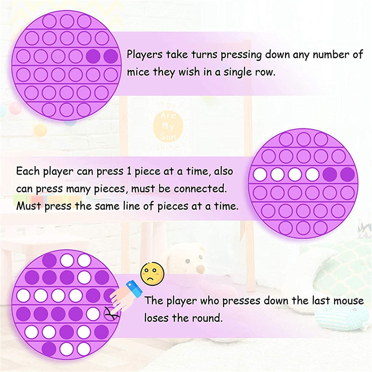 Teenage Girls Pop Fidget Its Toys Autism Special Needs Stress Reliever Pop Bubble Sensory Toy Teen Boys /& Tweens Squeeze Sensory Toy Yellow, Square Top Stress Relief Gifts for Kids /& Adults