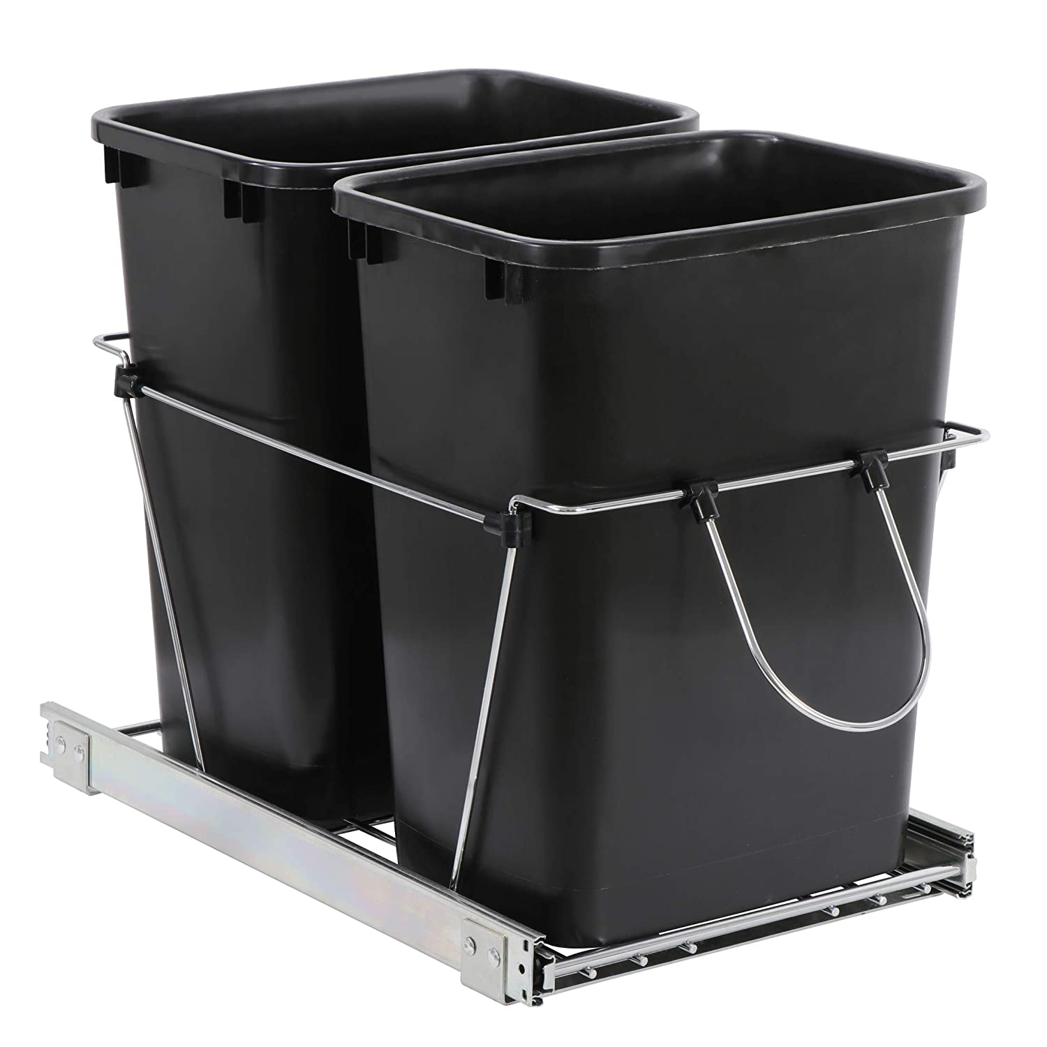 Double 35-Quart Sliding Pull Out Waste 2021 High order Container Kitchen Bin Tr