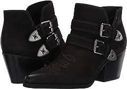 Black Waxy Nubuck Leather