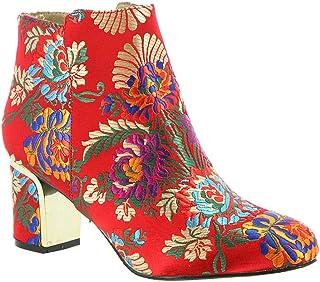 J.Renee Womens Tunatti Fabric Pointed Toe Ankle Fashion Boots US