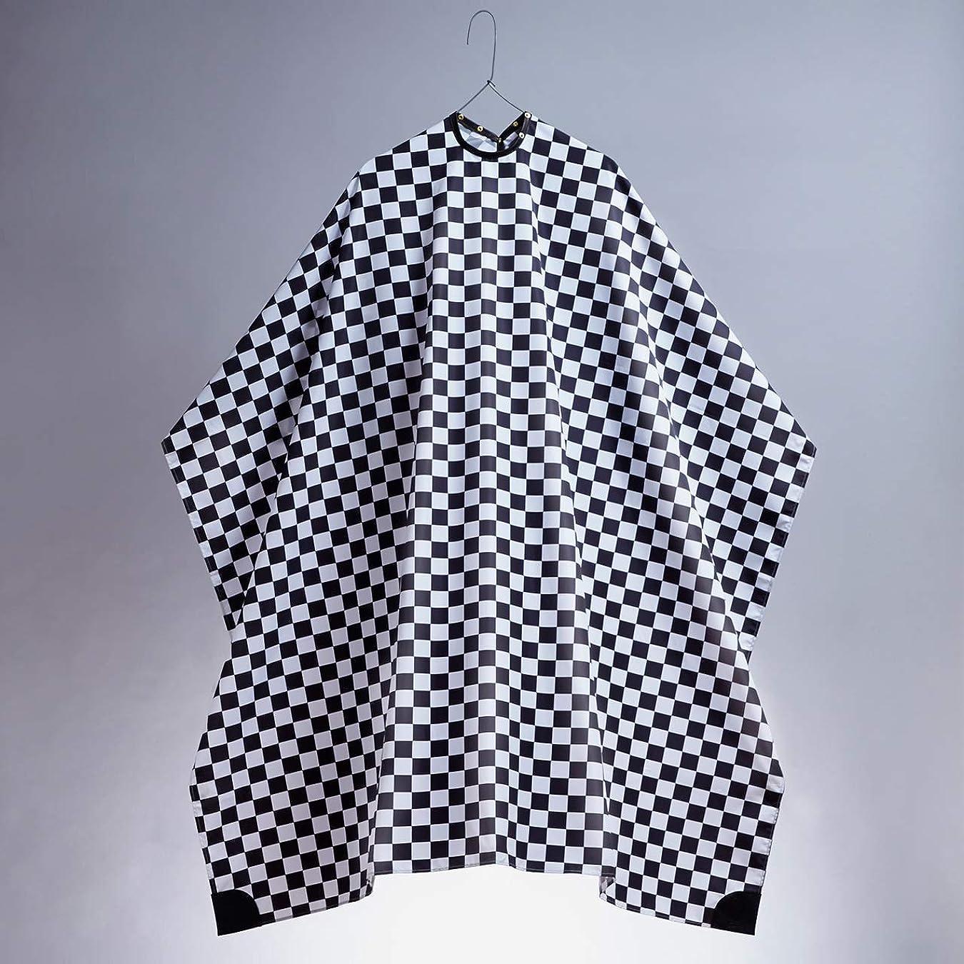 中村商店 カッティングケープ プロフェッショナル 散髪ケープ カットクロス バーバー 美容室 理容室 (Checkered)