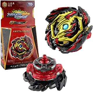 BOMEI TD Burst gyro Toy, The Fourth Generation GT Series Alloy Battle gyro with Two-Way Pull Ruler Launcher
