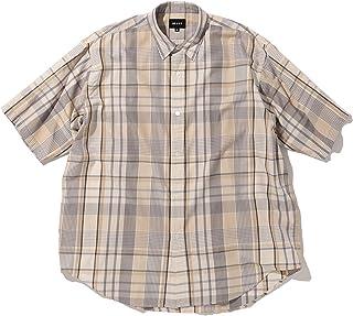 [ビームス] 半袖シャツ ビッグチェック イージー ミニレギュラー シャツ メンズ